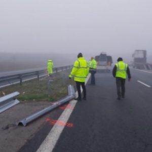 Ограничено движение в участък на магистрала