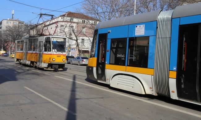 Промяна в движението на трамвайни линии в София